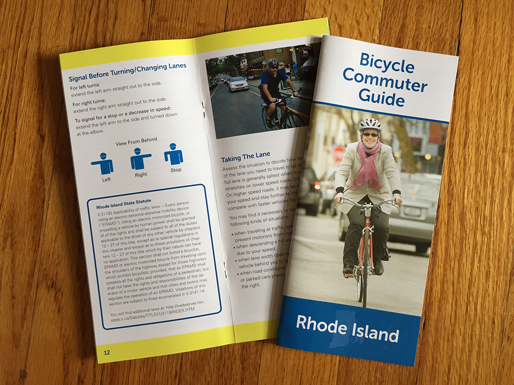 Photograph of RI Bicycle Commuter Guide.